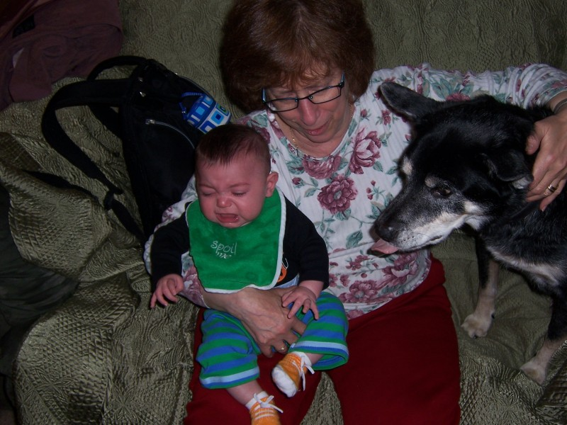 My mom with baby Alex and Shorty