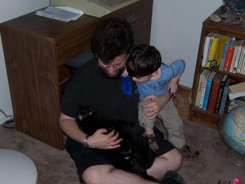 My brother with Jiji, Alex and Rory (in the corner)